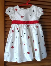 Toddler Girls size 3T off white w/ red, green, gold accents fancy holida... - $10.00