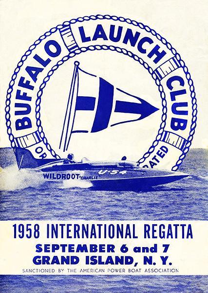 Primary image for 1958 International Regatta - Buffalo Launch Club - Grand Island NY Cover Poster