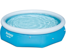 Bestway 10 ft. Round 30 in. Deep Easy Set Inflatable Pool, Blues image 2