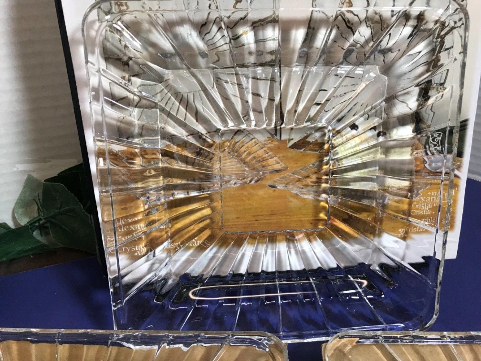 Crystal Clear Alexandria Crystal Dessert Plates Set of 4 image 2