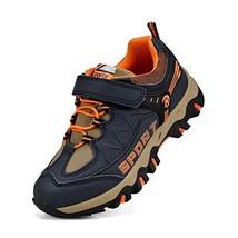 Biacolum Kids Sneakers Hiking Waterproof Walking Boys Shoes Dark Blue/Or... - $32.85