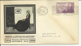 MOTHERS DAY #737 WASHINGTON, DC 5/2/1934 LINPRINT - $3.37