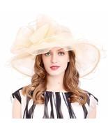 VECRY Women's Church Kentucky Derby Cap British Tea Party Wedding Hat Do... - $28.78