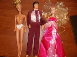 1983 1984 1998 Barbie Skipper Ken Doll with clothes Dress Panties Purple... - $24.75