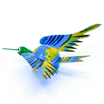 Oaxacan Copal Wood Carving Folk Art Humming Bird Hummingbird Bobble Head Figure image 2