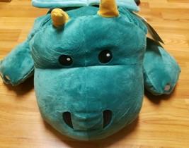 "Melissa & Doug Cuddle Dragon 27.5"" Large Plush Stuffed Animal Pillow NWT Green - $9.95"