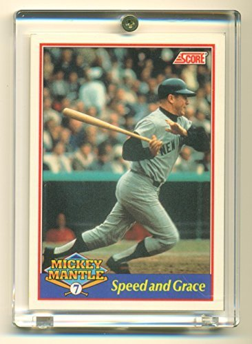 1991 Score Mickey Mantle Speed and Grace #5 o5 7 - New York Yankees
