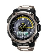 Casio Pro Trek PRW-5000T-7E Triple Sensor Gents Stainless Steel Bracelet Watch - $799.69