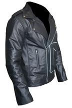 Grease 2 Fancy Dress John Travolta T Birds Black Biker Leather Jacket image 2