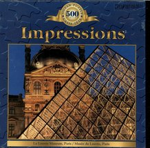 Impressions 500 Piece Puzzle, The Louvre Museum, Paris France - $17.50