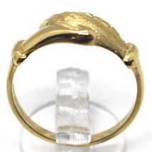 Yellow Gold Ring 750 18k, Santa Rita, Hands, Polished and Satin, Italy Made image 3