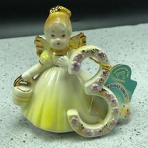 JOSEF ORIGINALS FIGURINE birthday angel applause through years 3 yellow ... - $34.65