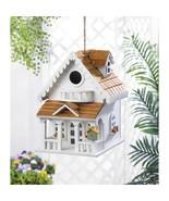 Two-Story Cottage Style Birdhouse w/ Balcony, Window Flower Boxes - $32.95