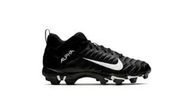 Nike Men's Size 11.5 Alpha Menace 2 Shark Football Cleat Black White Anthracite - $35.00