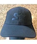 STARTER Star-fit Black Polyester Baseball Cap Hat One Size Stretchfit - $14.63