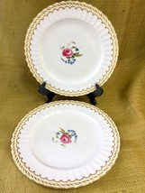 "Set of 2 Royal Worcester KENT DINNER PLATE 10 5/8"" Bone China Fluted Ros... - $98.01"