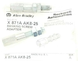 LOT OF 2 ALLEN BRADLEY X871A AK8-25 BANKING SCREW ADAPTERS SER. A, X871AAK825 image 1