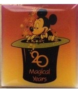 Disney 20th Anniversary Mickey Mouse in a Top Hat WDW Cast Member 1991 pin - $9.79