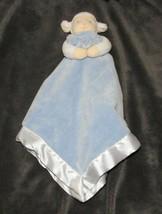 Prestige Lamb Cuddle Puppet Baby Security Blanket Blue White Plush Lovey - $36.62