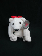 Coca-Cola Polar Bear with Red Bow Plush Bean Bag Style  - BRAND NEW - $7.43