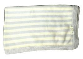 Pottery Barn Baby Kids Blue White Sweater Knit Blanket Lovey Stripes PBK... - $25.25