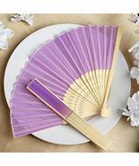 Wholesale Silk Folding Wedding Party Favor Fans Lavender YSefa - $131.68