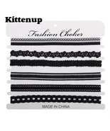 Kittenup 6Pcs/sets Fashion New Black Sexy Chokers Necklaces for Women - $10.99
