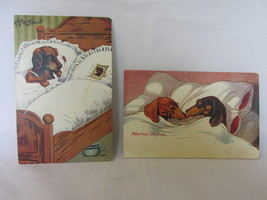 """Vintage Comic Postcards with Dogs - """"The Widow"""" & """"Married for Love"""", Un... - $10.99"""