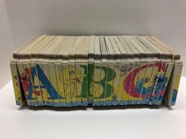 Rare Sesame Street ABC Interlocking Board Puzzle Books Set 26 COMPLETE A... - $47.48