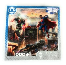 Justice League Thomas Kinkade 1000 Piece Jigsaw Puzzle Superman New Sealed - $25.95