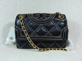 NWT Tory Burch Black Fleming Soft Stud Small Convertible Shoulder Bag $598 - $572.22