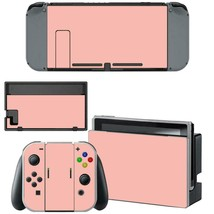 Nintendo Switch Console Dock Vinyl Skin Stickers Decals Pastel Pink Coral Color - $9.60