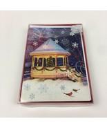 NIB 18 Pack Glitter Christmas Holiday Greeting Cards Envelopes Tree Bird... - $17.75