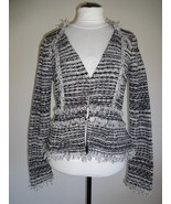 NWOT INC INTERNATIONAL CONCEPTS BOUCLE FRINGE TRIM PEPLUM SWEATER CARDIG... - $46.50