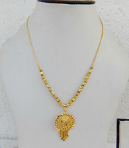 Ethnic South Indian Gold Tone Necklace Bridal Fashion Jewelry Chain pend... - $9.49