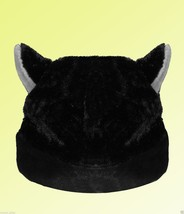 BLACK CAT ANIME KITTY GOTH RAVE COSPLAY CAP HAT Big for Adults - $9.48