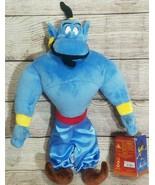 """Disney Store Plush Genie Stuffed Doll Aladdin Robin Williams Blue 19"""" New - $19.39"""