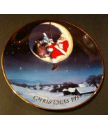 """LIMITED EDITION AVON CHRISTMAS PLATE 22K GOLD 1998 """"GREETINGS FROM SANTA"""" - $9.89"""