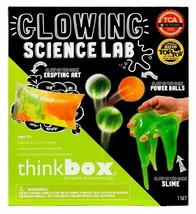 Think Box Glowing Science Lab Glow Dark Slime Power Balls Kids Craft Activity NW image 1