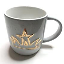 Starbucks Coffee Mug 14 Oz 2016 Gold Star Design Gray Coffee Cup - $18.88