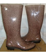 UGG SHAYE Cable Knit  Rain Tall Boots w Fur Insole Size US 5, EU 36 NEW ... - $54.44