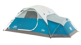 Coleman Juniper Lake 4 Person Instant Dome Tent w/ Annex BLUE Camping Hu... - $124.37