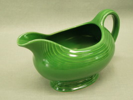 Vintage Old Fiesta Ware Gravy Sauce Boat in Medium Green Homer Laughlin ... - $193.05