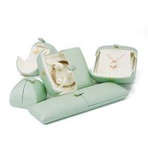 Small Faux Leather Wedding Jewelry Box Organizer- Wedding Jewelry - Sage green image 1