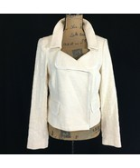 NEW Banana Republic 6 M Blazer Jacket Ivory Cream Texture Tweed Snap Poc... - $29.95