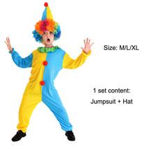 TPDT* B 0056A Halloween Costumes Kids Children Funny Clown Costume Naugh... - £33.99 GBP