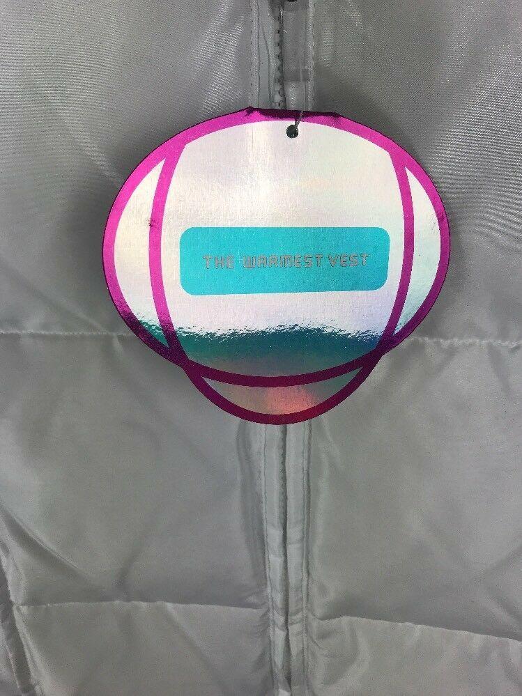 NWT GAP KIDS Girl's White Puffer Winter Unhooded Bubble Vest Sz XXL (T)