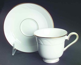 "LENOX ""SNOWDRIFT"" GOLD SET OF 19 TEA SAUCER BONE CHINA MADE IN USA WHITE... - $139.50"