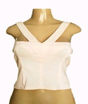 DIVIDED by H&M Womens Quilted Wide Shoulder Straps Stretchy Crop Top PIN... - $12.63