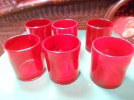 Great ARTLAND Ruby Red DOF Glasses Set of 6 Glasses - $27.43